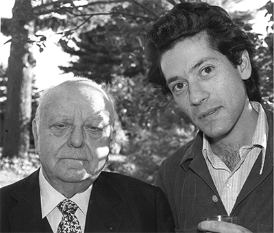 With Virgil Thomson at the MacDowell Colony